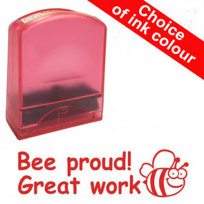 Teacher Stamps |Bee proud! Great work. Value Range.