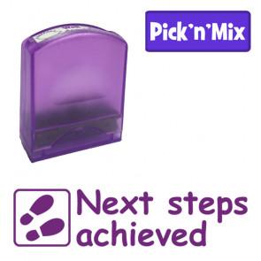 School stamps | Next steps achieved Teacher Stamp.