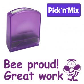 School Stamps | Be proud! Great work. Purple Ink, Teacher Stamp