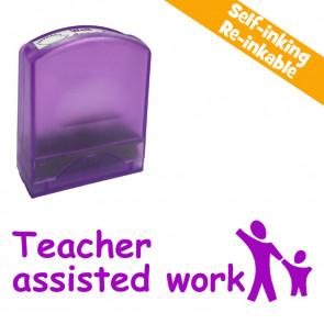 School stamps | Teacher assisted work, Purple Ink, Holding Hands Design Value Stamp