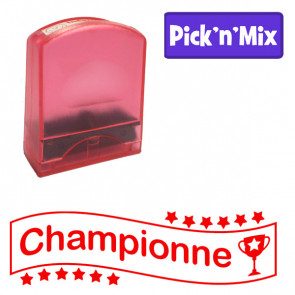 Teacher Stamps | Championne. Self-inking. Reinkable Value Range