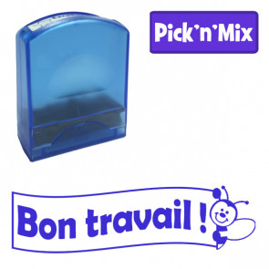 Teacher Stamps | Bon travail ! Self-inking. Reinkable Value Range