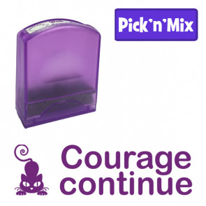 Teacher Stamps | Courage continue Self-inking. Reinkable Value Range