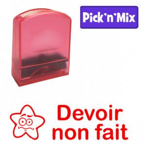 Teacher Stamps | Devoir non fait. Self-inking. Reinkable Value Range