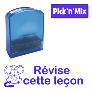 Teacher Stamps | Révise cette leçon Self-inking. Reinkable Value Range