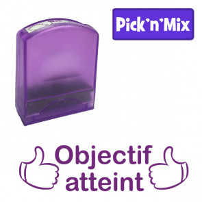 Teacher Stamps | Objectif atteint Self-inking. Reinkable Value Range