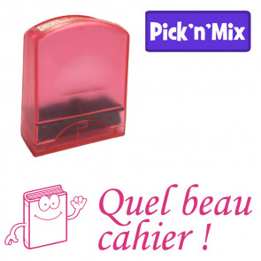 Teacher Stamps | Quel beau cahier ! Self-inking. Reinkable Value Range