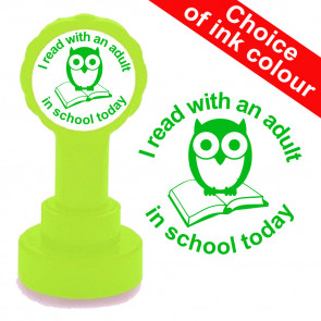 Teacher Stamps | I read with an adult in school today School Stamp