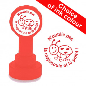Teacher stampers | Courage Continue ! / Keep it up! French Marking Self-inking Stamp