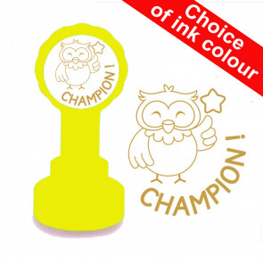 Teacher Stamp | Champion ! Cute Owl Teacher Stamp