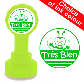 School Stamps | Très bien - Bee Design French Teacher Stamp