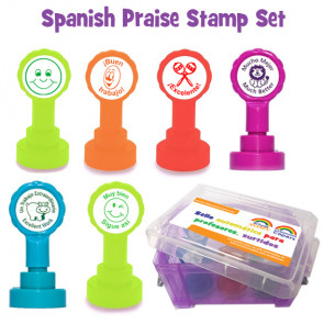 School Stamps | Spanish Praise Teacher Stamp Box Set.