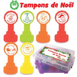 Tampons Encreur | Coffret de 6 tampons encreur de Noël