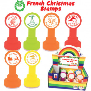 Teacher Stamps | French MFL Christmas School Stamps. Box set