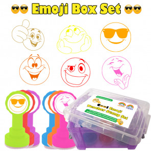 Teacher Stamps | Box Set of 6 Emoji Design School Stamps