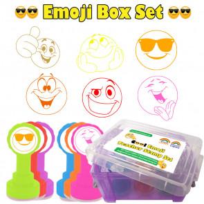 Teacher Stamps | Box Set of 6 Emoji Design School Stamps