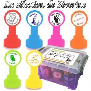 Tampons Encreur | La Sélection de Le Cartable de Séverine - Coffret de 6 Tampons