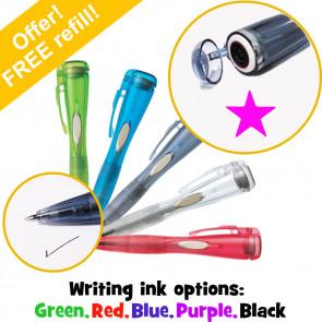 Stamper Pen | Clix Pen with Internal Stamp. Pink Star