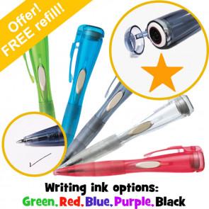 Stamper Pen   Fluorescent Orange Star Pen with Stamp