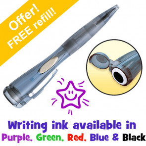 Stamp Pen | Smiley Star Clix Pen. Choice Writing Ink