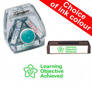 School Stamps | Learning Objective Achieved. Xstamper 3-in-1 Twist Stamp