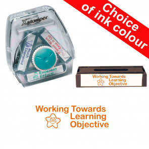 School Stamps | Working Towards Learning Objective. Xstamper 3-in-1 Twist Stamp