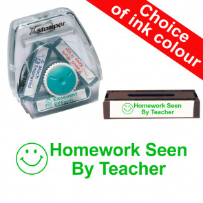 School Stamps | Homework Seen By Teacher Xstamper 3-in-1 Twist Stamp