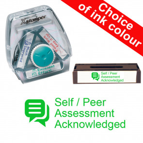 School Stamps | Self / Peer Assessment Acknowledged. Xstamper 3-in-1 Twist Stamp