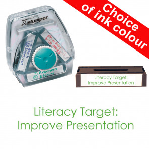 School Stamps | Literacy Target: Improve Presentation Xstamper 3-in-1 Twist Stamp.