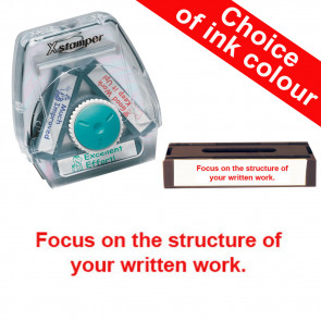School Stamps | Focus on the structure of your written work Xstamper 3-in-1 Twist Stamp.