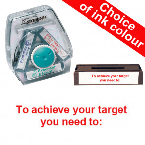 School Stamps | To achieve your target you need to: Xstamper 3-in-1 Twist Stamp.