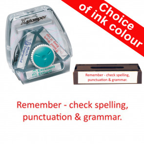 School Stamps | Remember - check spelling, punctuation and grammar Xstamper 3-in-1 Twist Stamp