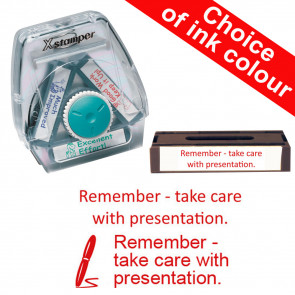 School Stamps | Remember - take care with presentation. Xstamper 3-in-1 Twist Stamp