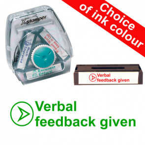 School Stamps | Verbal Feedback Given (Circle/Arrow). Xstamper 3-in-1 Twist Stamp