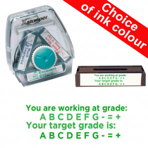 School Stamps | Working at grades indicator Xstamper 3-in-1 Twist Stamp.