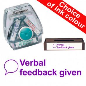 School Stamps | Verbal Feedback Given (Speech Bubble) Xstamper 3-in-1 Twist Stamp