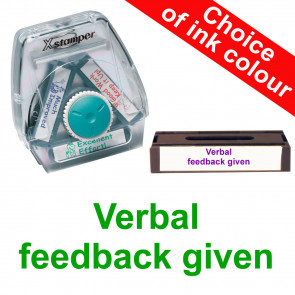 Teacher Stamps | Verbal feedback given -  Xstamper 3-in-1 Twist Stamp