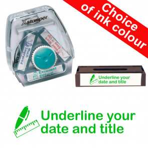 School Stamps | Underline your date and title. Xstamper 3-in-1 Twist Stamp.