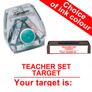School Stamps | Teacher Set Target / Your Target Is. Xstamper 3-in-1 Twist Stamp
