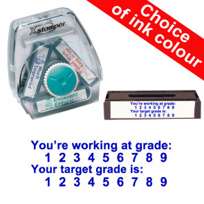 School Stamps | You're working at grade / Your target grade is. Xstamper 3-in-1 Twist Stamp