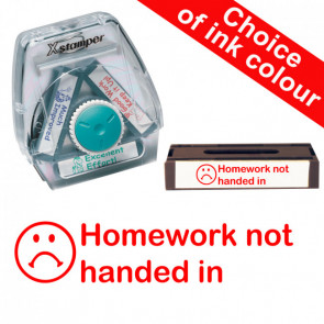 School Stamps | Homework not handed Xstamper 3-in-1 Twist Stamp