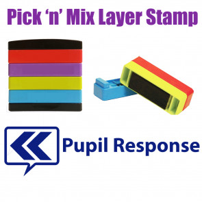 Teacher Stamps | Pupil response: Pick'n'Mix Stakz Layer Multi stamp