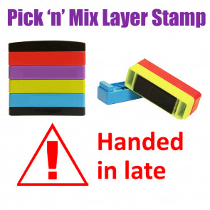 Teacher Stamps | Handed in Late Pick'n'Mix Stakz Layer Multi Stamp