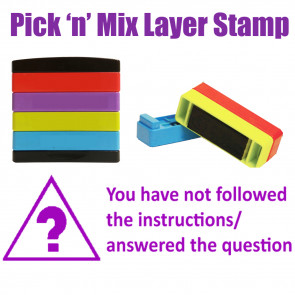 Teacher Stamps | You have not followed the instructions/answered the question Pick'n'Mix Stakz Layer Multi Stamp