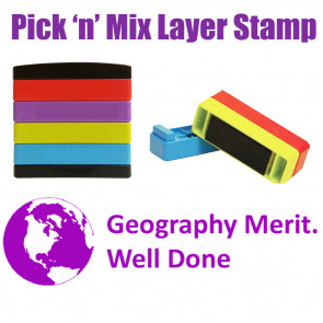 Teacher Stamps | Geography merit. Well done Pick'n'Mix Stakz Layer Multi Stamp