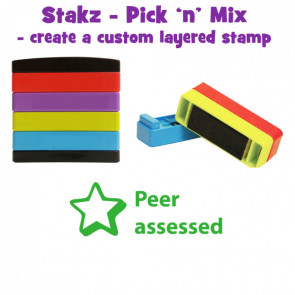Teacher Stamps |Peer Assessed: Pick'n'Mix Stakz Layer Multi Stamp