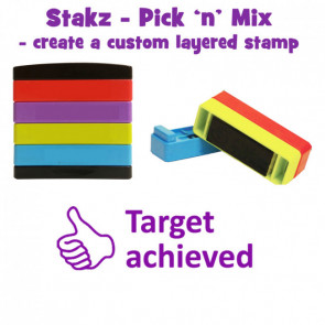 Teacher Stamps |Target achieved Pick'n'Mix Stakz Layer Multi Stamp
