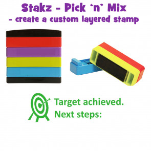 Teacher Stamps | Target achieved. Next steps: Pick'n'Mix Stakz Layered Multistamp.