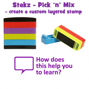 Teacher Stamps | Geography merit. Well done Pick'n'Mix Stakz Layered Multistamp.
