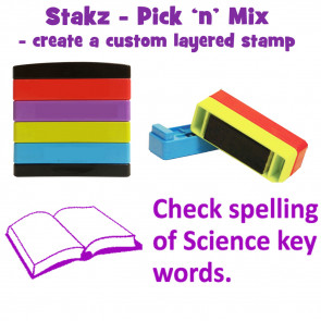 Teacher Stamps | Check spelling of science key words. Pick'n'Mix Stakz Layered Multistamp